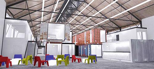 Grünhof Freiburg lokhalle auf dem güterbahnhof wird zum kreativpark